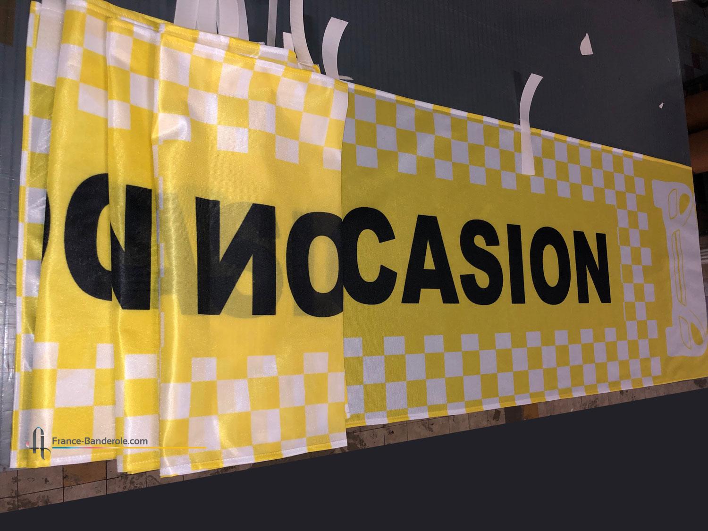 fabrication de drapeaux pour centre auto, concession automobile, garage, parking voiture