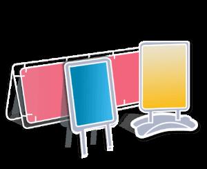 PLV exterieur - interieur - porte affiche - porte document - accessoires pose - mur d'image - cadre aluminium - photocall - stand autoportant extérieur