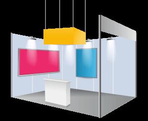 Habillage pour stand d'exposition - PLV interieur - porte affiche - porte document - accessoires pose - mur d'image - cadre aluminium - photocall