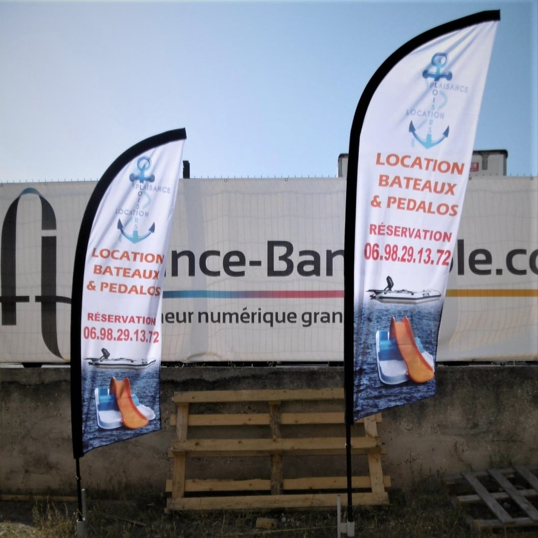 oriflammes premium pour location bateaux marseille