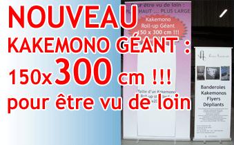 Kakemono Roll-up Géant 150×300 cm