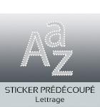 Stickers lettrages prédécoupés formes personnalisées