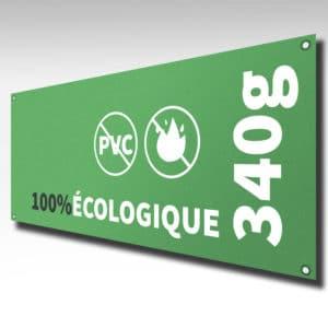 banderole 100% écologique