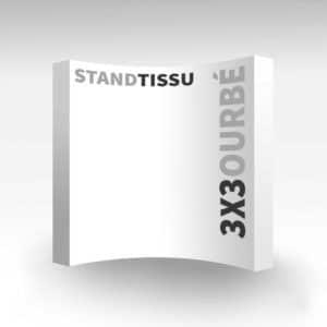 stand tissu easy quick courbé