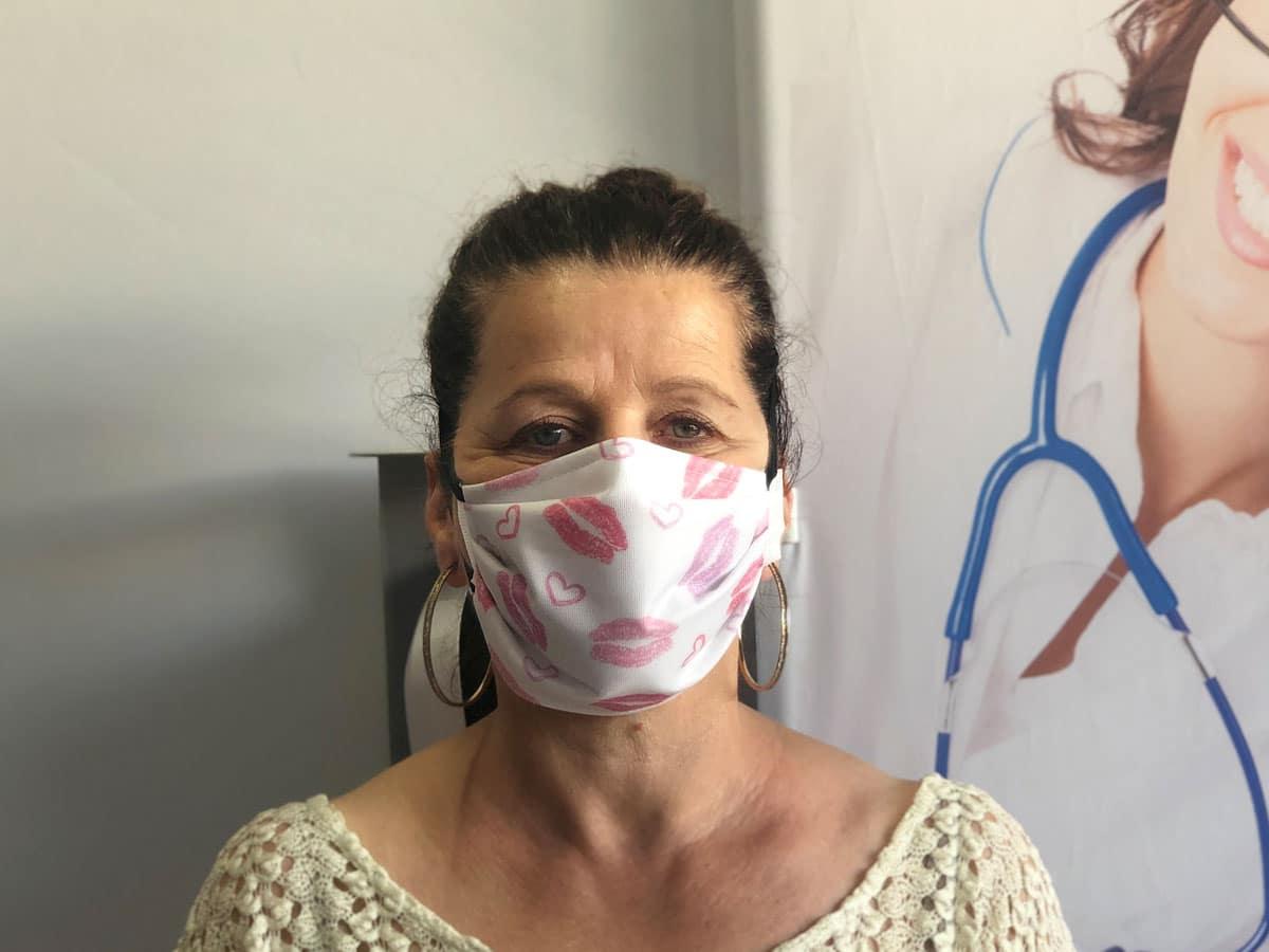 masque barrière petit coeur pour femme contre covid-19 coronavirus