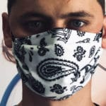 détail masque barrière lavable
