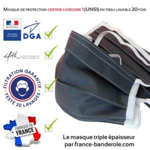 masque de protection certifié catégorie 1 (UNS1) DGA-IFTH