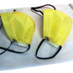 masque barrière jaune