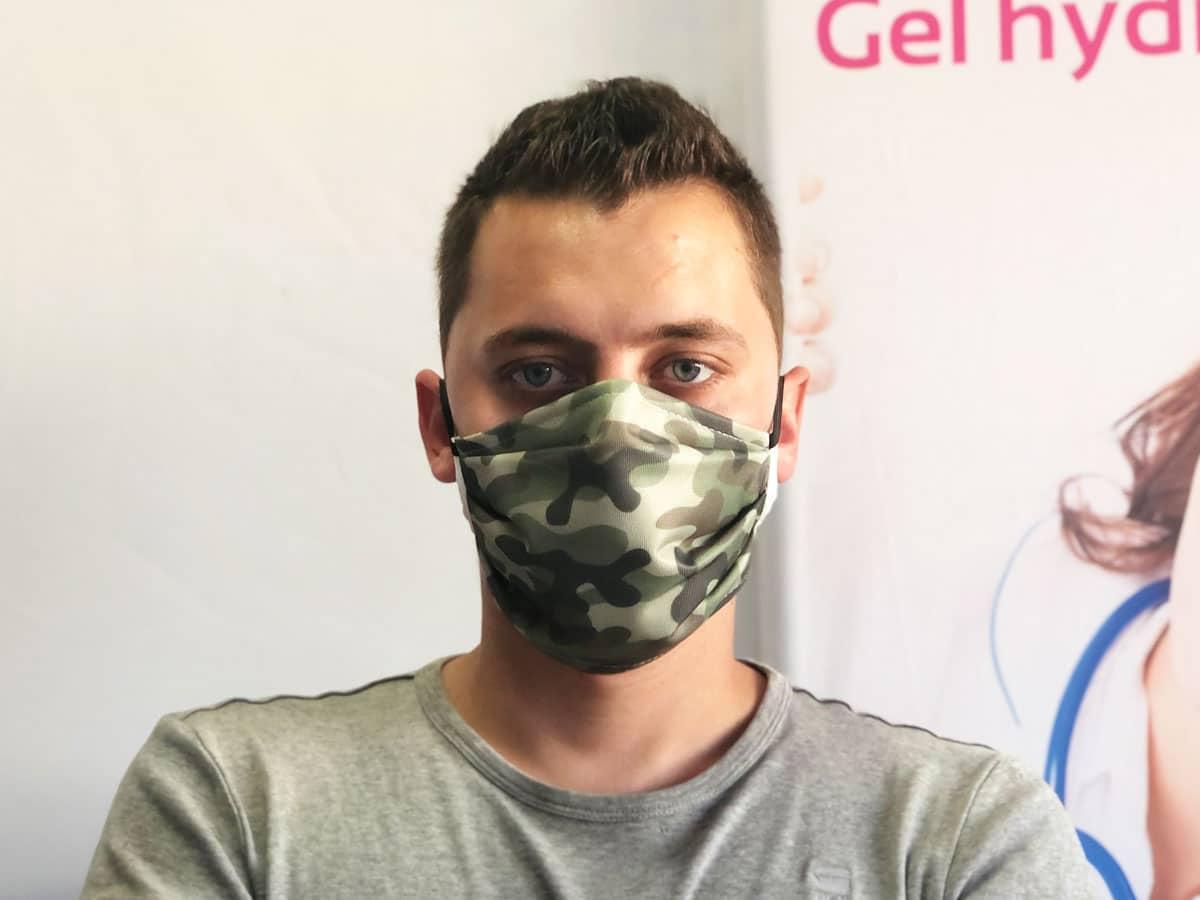 masque tissu camouflage militaire personnalisé réutilisable lavable