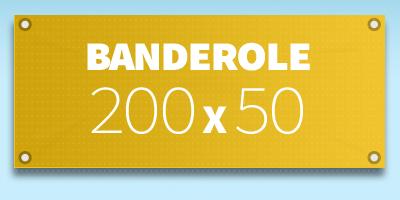 BANDEROLE PUBLICITAIRE 200 x 50 cm