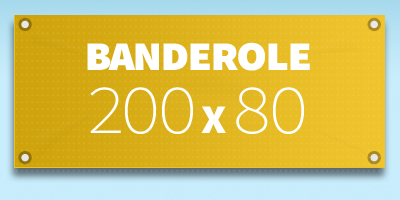 BANDEROLE PUBLICITAIRE 200 x 80 cm