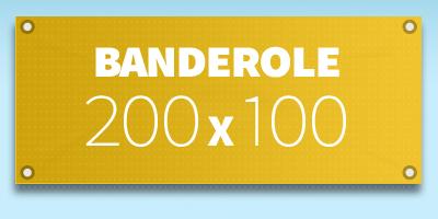 BANDEROLE PUBLICITAIRE 200 x 100 cm