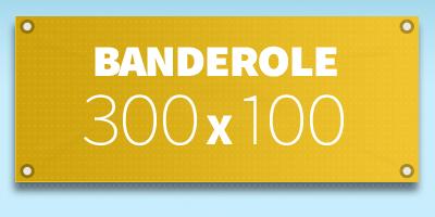 BANDEROLE PUBLICITAIRE 300 x 100 cm