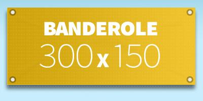 BANDEROLE PUBLICITAIRE 300 x 150 cm