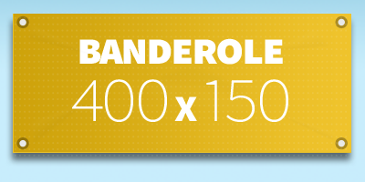 BANDEROLE PUBLICITAIRE 400 x 150 cm