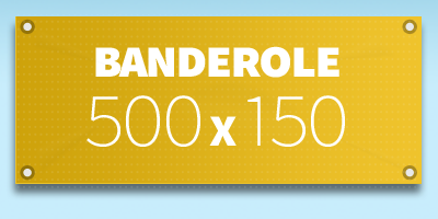 BANDEROLE PUBLICITAIRE 500 x 150 cm