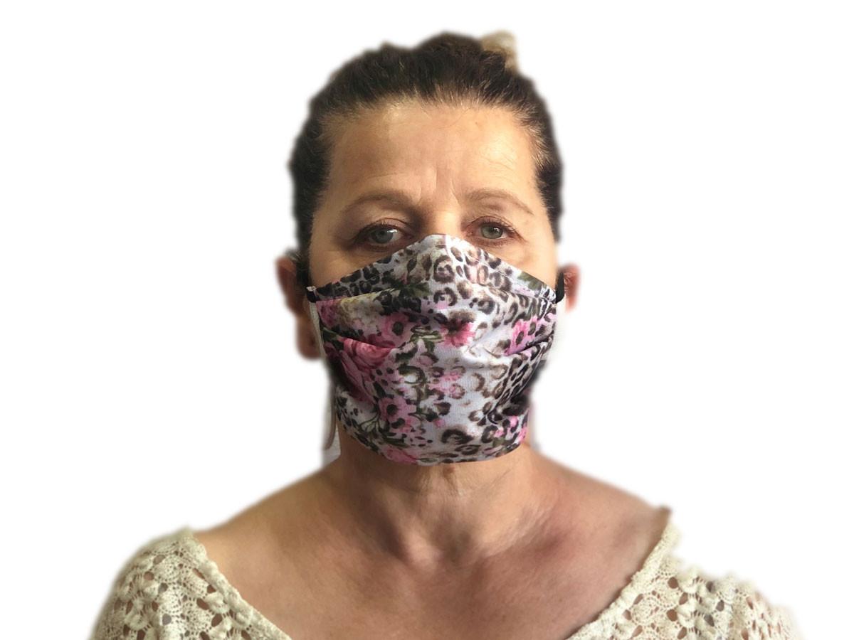 Masque barrière décor roses