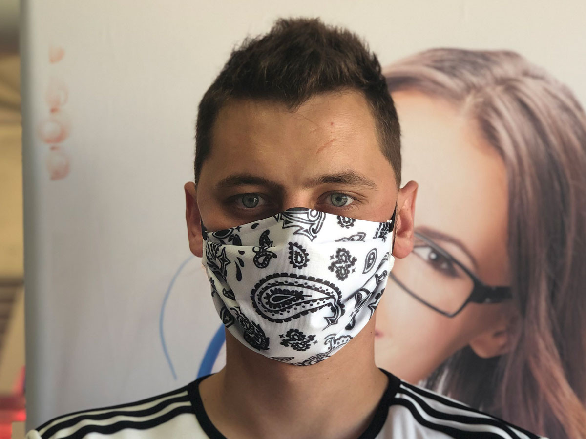 Masque barrière bandana Blanc