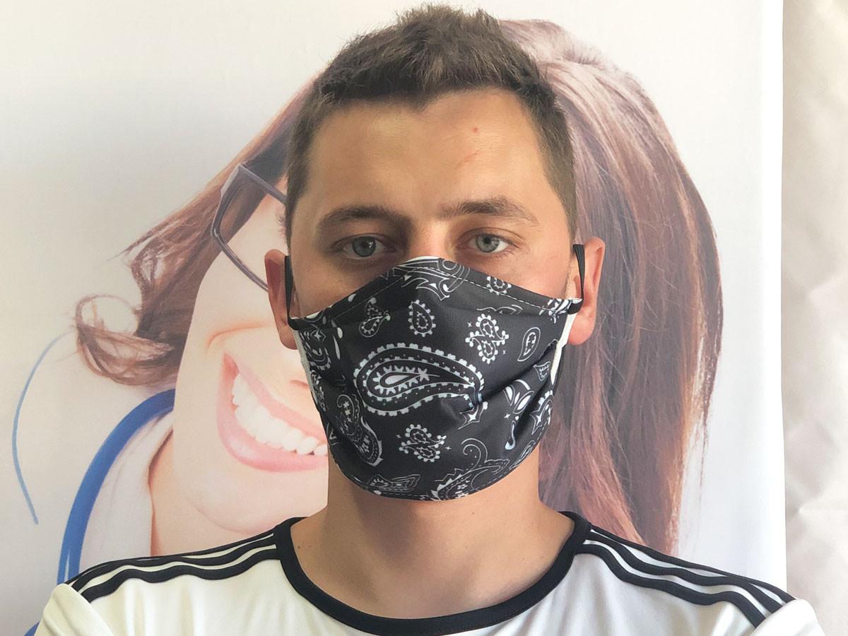 Masque barrière bandana Noir