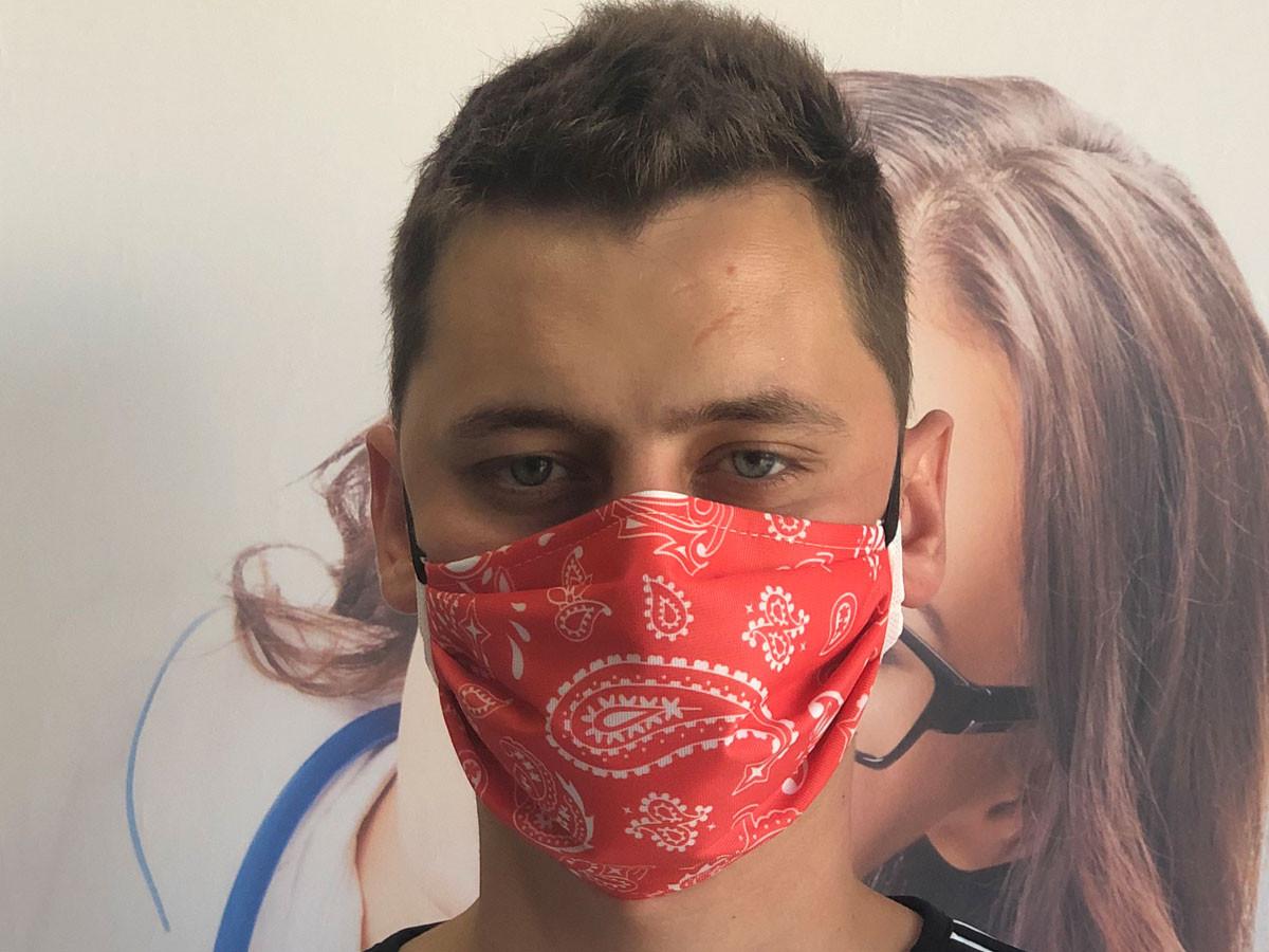 Masque barrière bandana Rouge