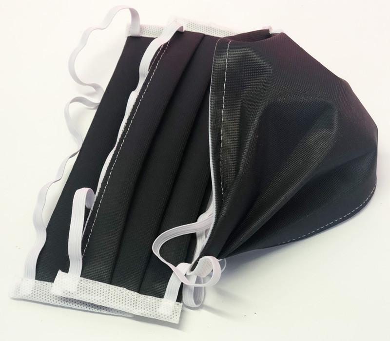 masque barrière noir réutilisable lavable en machine